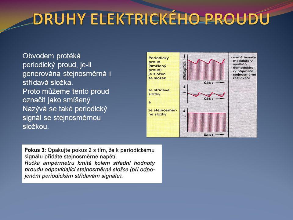 Obvodem protéká periodický proud, je-li generována stejnosměrná i střídavá složka.