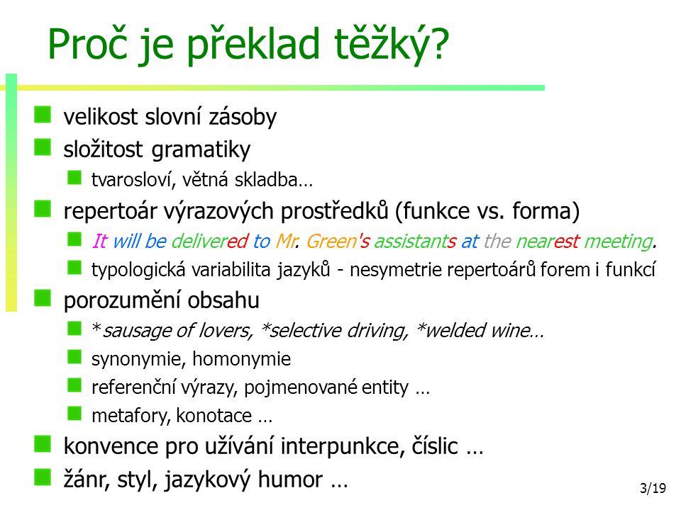 3/19 Proč je překlad těžký.