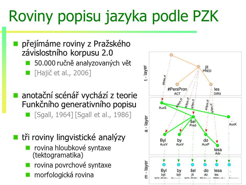 8/19 Strojový překlad a tektogramatika motivace pro použití tektogramatiky z hlediska pravděpodobnostních modelů nabízí lingvisticky adekvátní předpoklady nezávislosti 1.