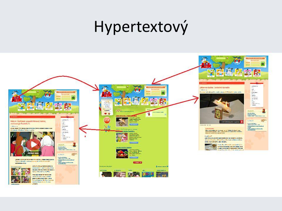 Internetové stránky jsou hypertextové.