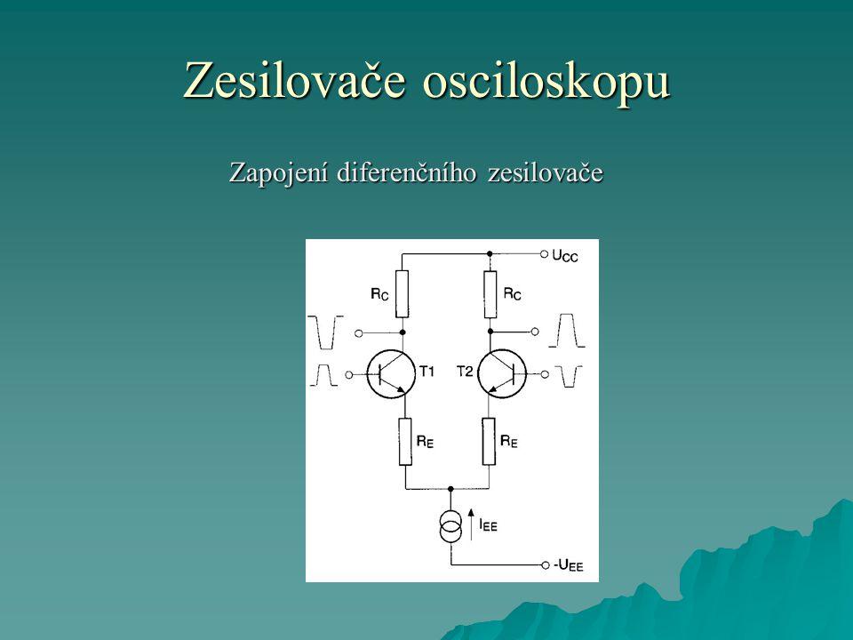 Zesilovače osciloskopu Zapojení diferenčního zesilovače