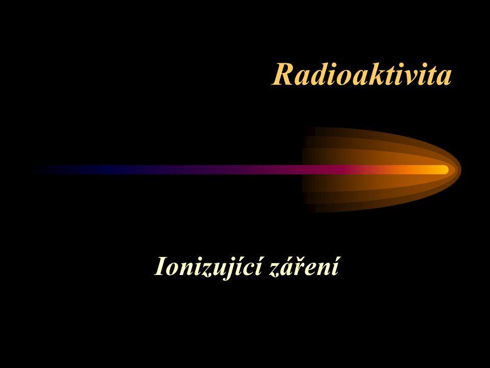 Radioaktivita Ionizující záření