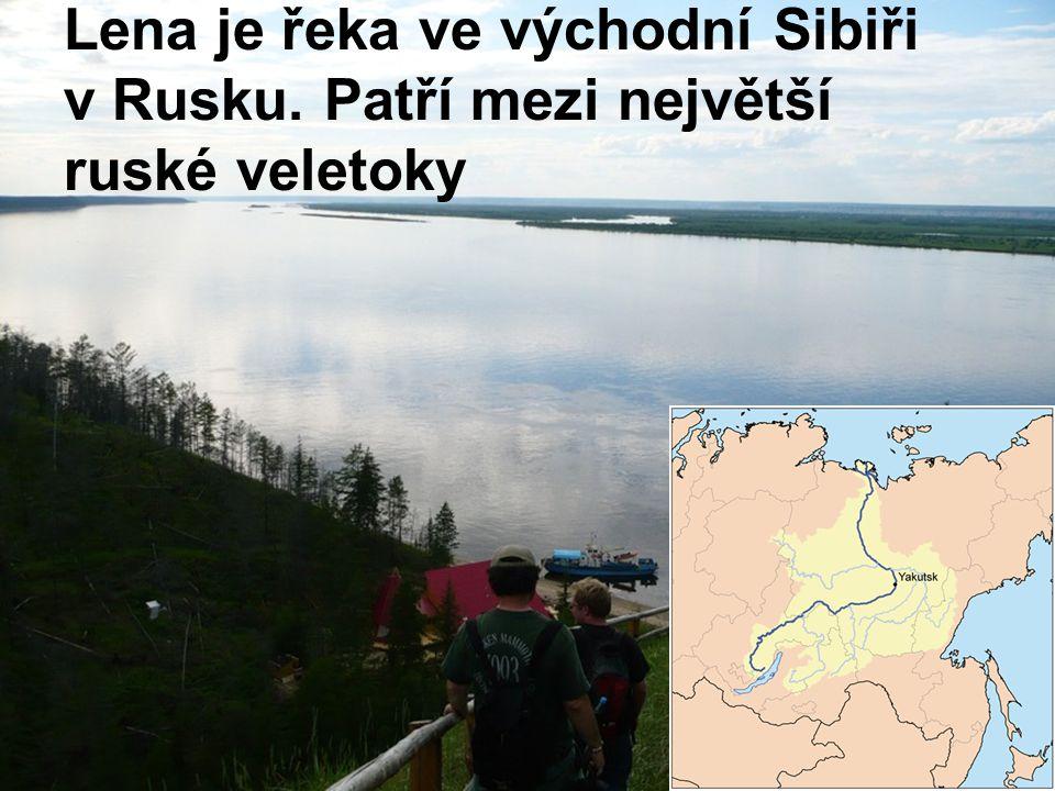 Lena je řeka ve východní Sibiři v Rusku. Patří mezi největší ruské veletoky