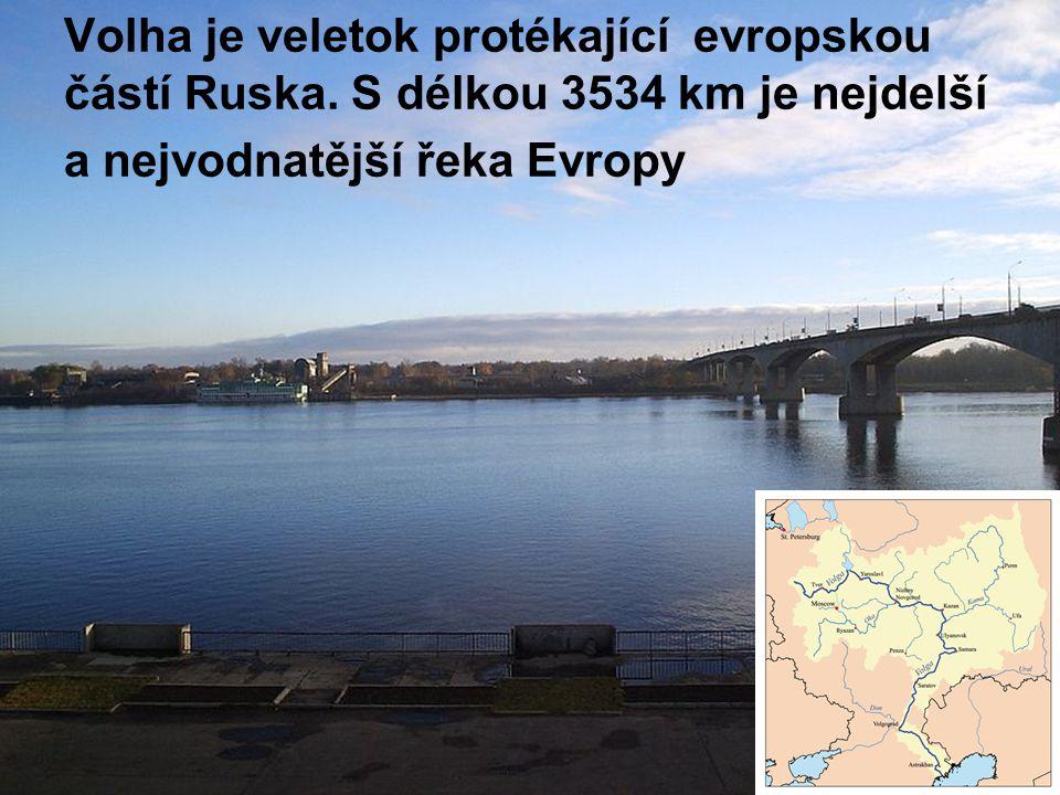Volha je veletok protékající evropskou částí Ruska. S délkou 3534 km je nejdelší a nejvodnatější řeka Evropy