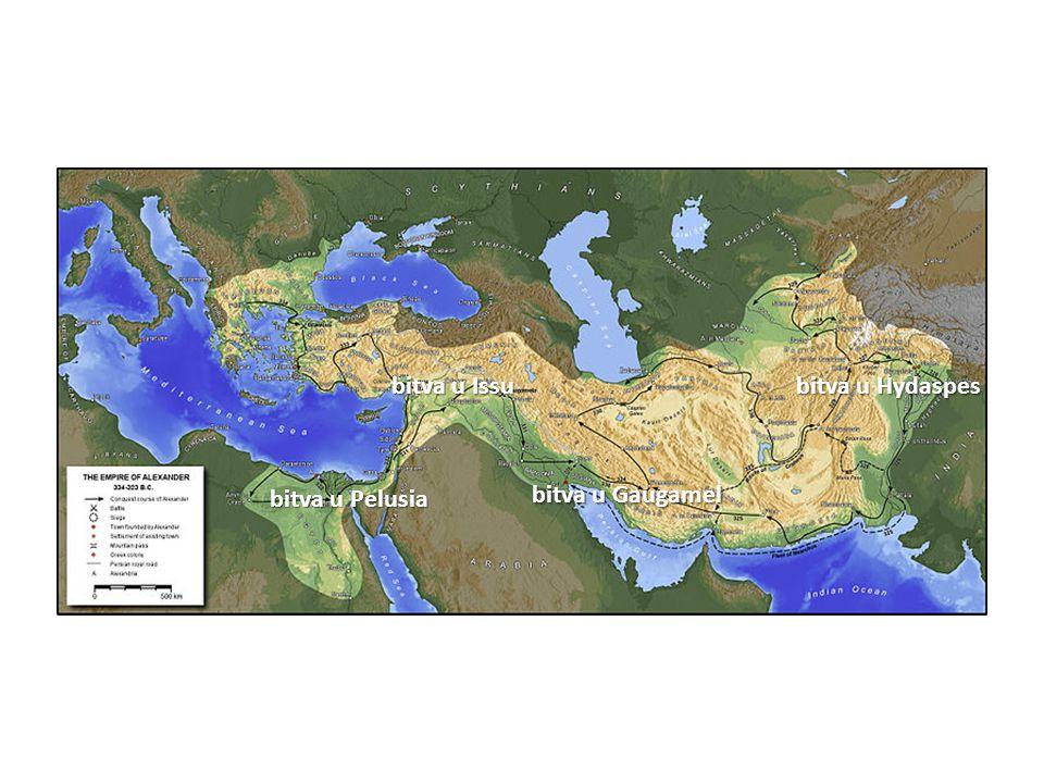 bitva u Issu bitva u Pelusia bitva u Gaugamel bitva u Hydaspes