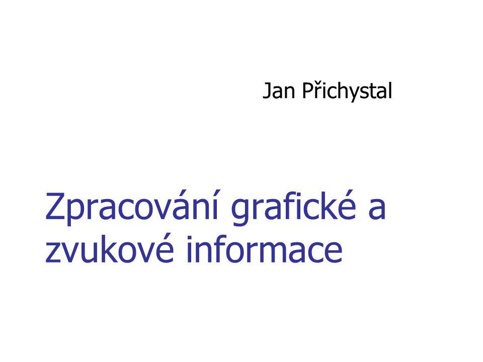 Zpracování grafické a zvukové informace Jan Přichystal
