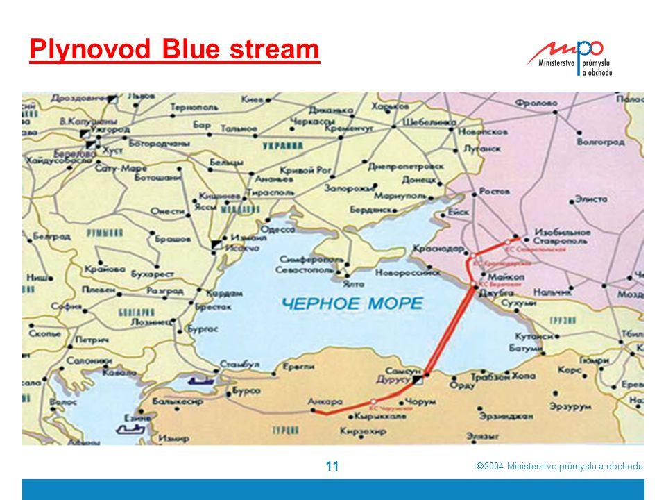  2004  Ministerstvo průmyslu a obchodu 11 Plynovod Blue stream