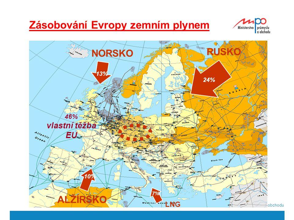  2004  Ministerstvo průmyslu a obchodu 7 Zásobování Evropy zemním plynem RUSKO NORSKO ALŽÍRSKO LNG 24% 13% 10% 7% 46% vlastní těžba EU
