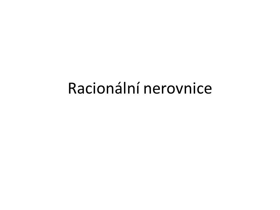Racionální nerovnice