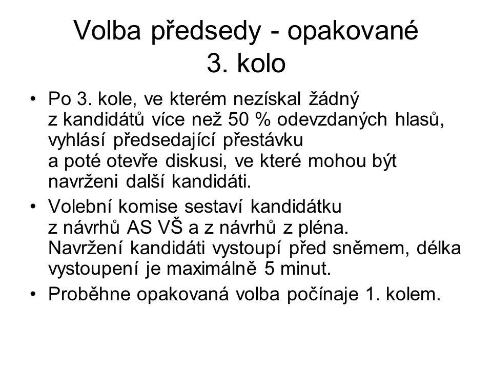 Volba předsedy - opakované 3. kolo Po 3.