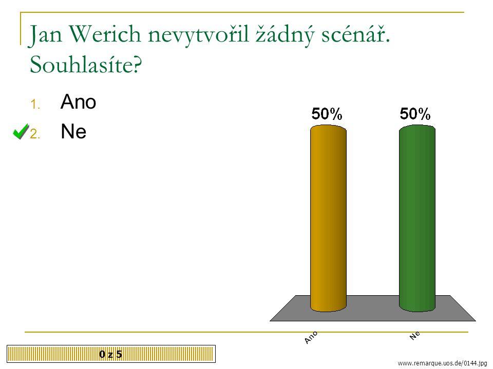 Po válce Jan Werich spolupracoval s 0 z 5 1. Miroslavem Horníčkem 2. Milošem Kopeckým 3. Luďkem Sobotou vilim.cz