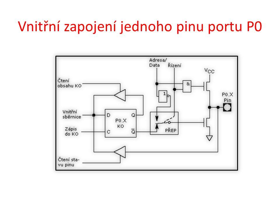 Vnitřní zapojení jednoho pinu portu P0
