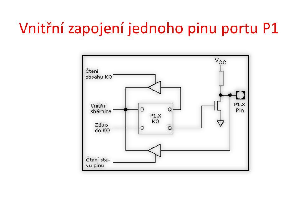 Vnitřní zapojení jednoho pinu portu P2