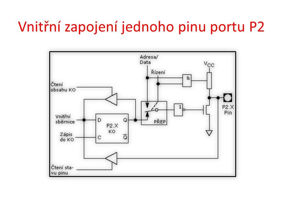 Vnitřní zapojení jednoho pinu portu P3