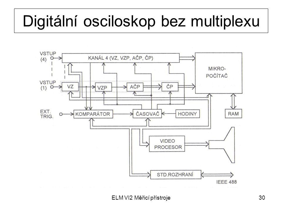 ELM VI2 Měřicí přístroje30 Digitální osciloskop bez multiplexu