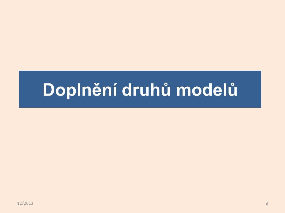 12/20138 Doplnění druhů modelů
