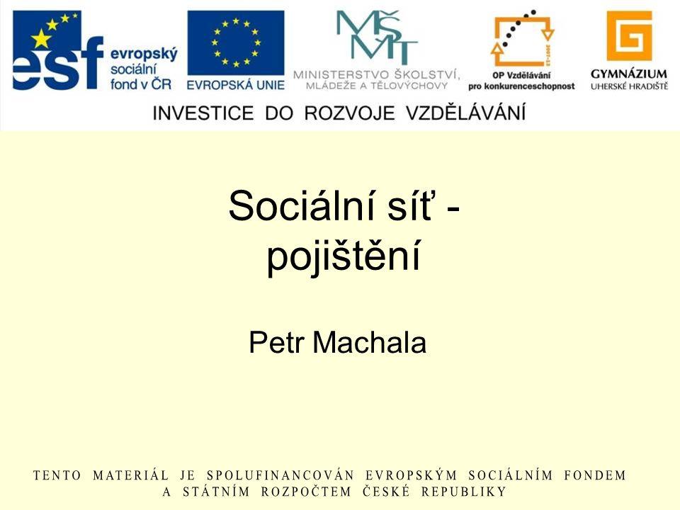 Sociální síť - pojištění Petr Machala