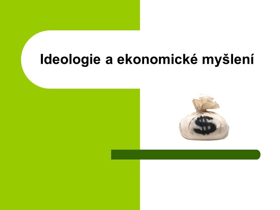 Ideologie a ekonomické myšlení