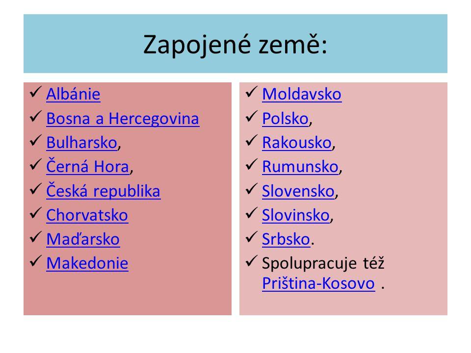 Zapojené země: Albánie Bosna a Hercegovina Bulharsko, Bulharsko Černá Hora, Černá Hora Česká republika Chorvatsko Maďarsko Makedonie Moldavsko Polsko, Polsko Rakousko, Rakousko Rumunsko, Rumunsko Slovensko, Slovensko Slovinsko, Slovinsko Srbsko.