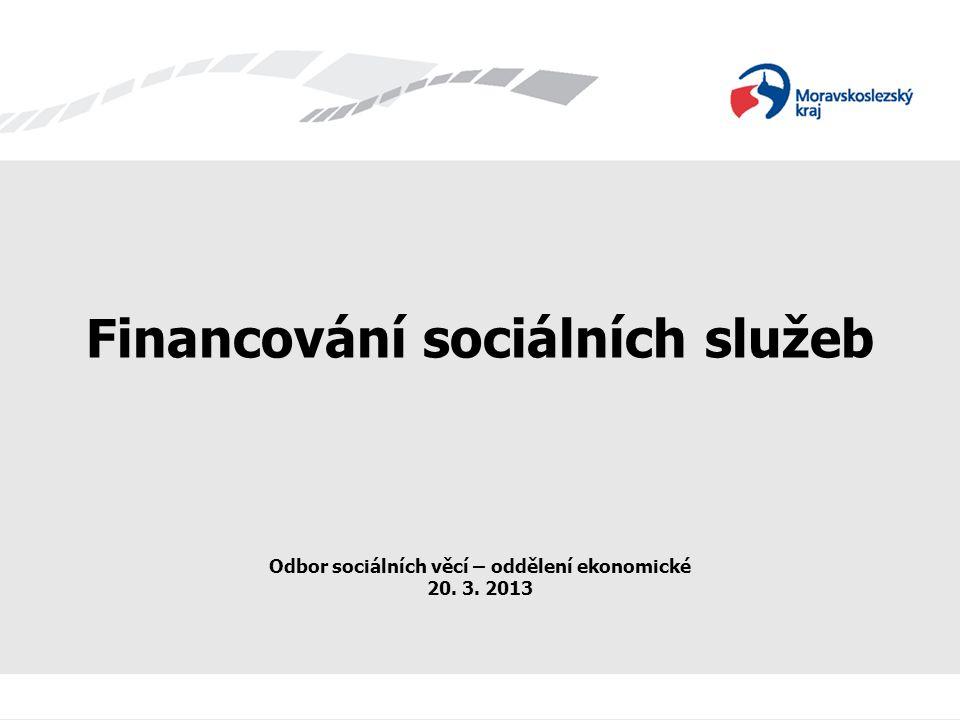 Financování sítě sociálních služeb V Moravskoslezském kraji je v současné době poskytováno více než 680 registrovaných sociálních služeb.