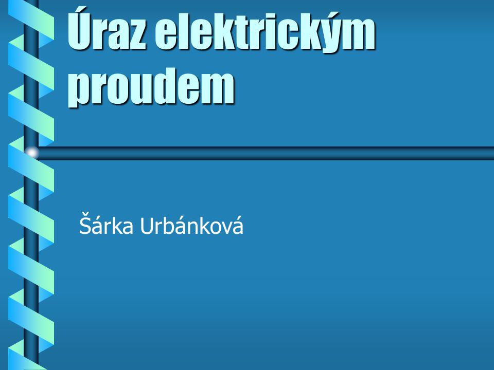 Úraz elektrickým proudem Šárka Urbánková