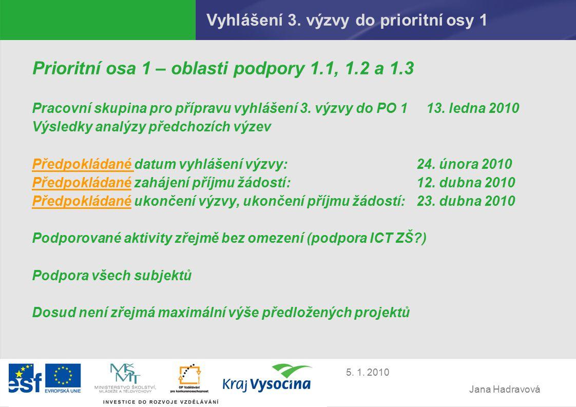 Jana Hadravová 5. 1. 2010 Vyhlášení 3.