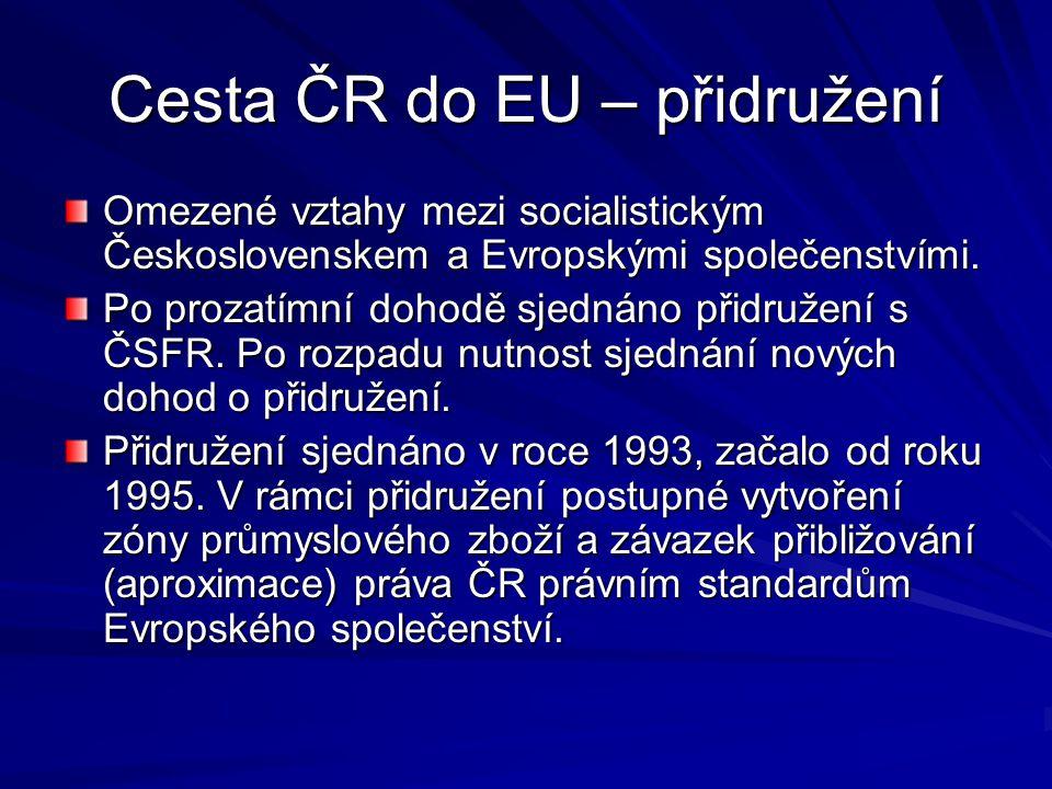 Cesta ČR do EU – přidružení Omezené vztahy mezi socialistickým Československem a Evropskými společenstvími.