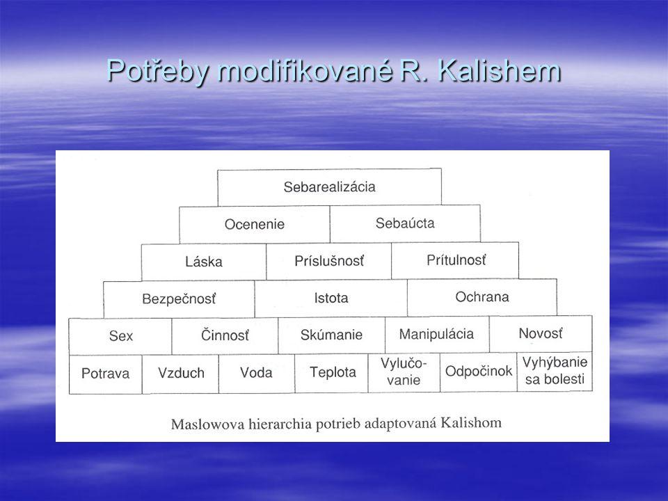 Potřeby modifikované R. Kalishem