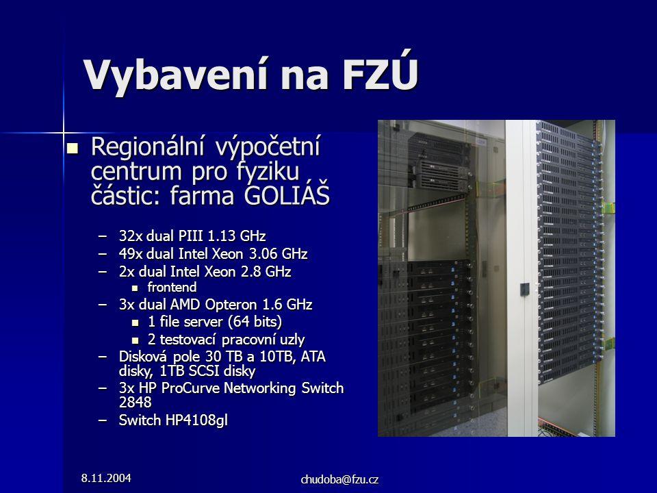 8.11.2004 chudoba@fzu.cz Regionální výpočetní centrum pro fyziku částic: farma GOLIÁŠ Regionální výpočetní centrum pro fyziku částic: farma GOLIÁŠ –32