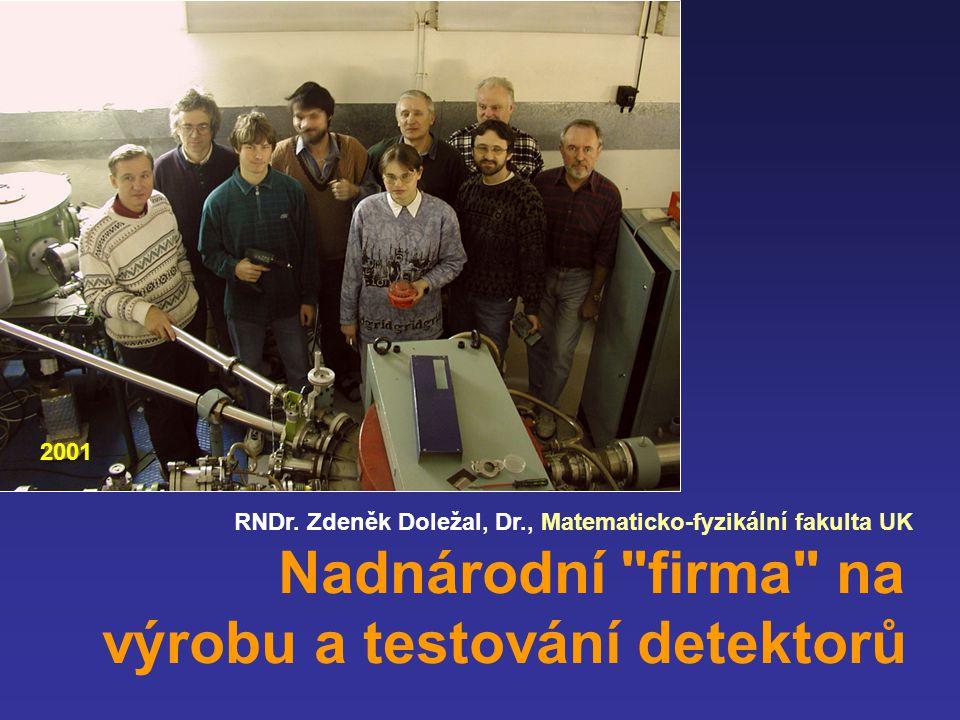 RNDr. Zdeněk Doležal, Dr., Matematicko-fyzikální fakulta UK Nadnárodní