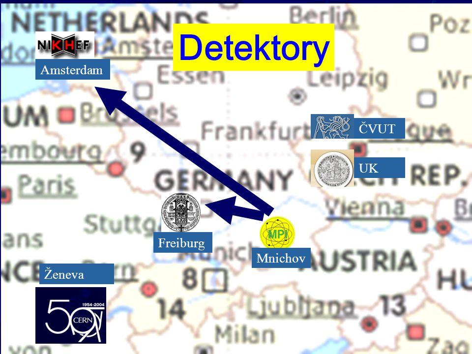 ČVUT UK Mnichov Freiburg Amsterdam Ženeva Detektory