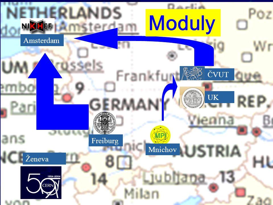 ČVUT UK Mnichov Freiburg Amsterdam Ženeva Moduly