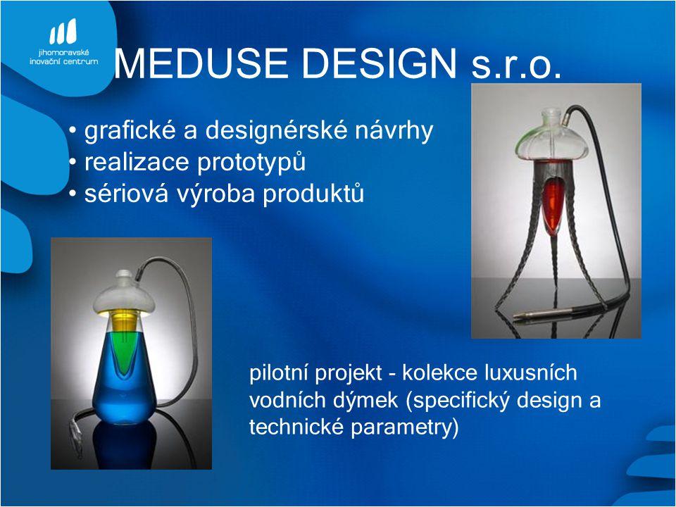 MEDUSE DESIGN s.r.o. grafické a designérské návrhy realizace prototypů sériová výroba produktů pilotní projekt - kolekce luxusních vodních dýmek (spec