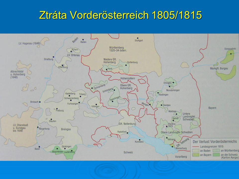 Ztráta Vorderösterreich 1805/1815