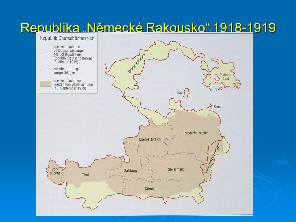 """Republika """"Německé Rakousko 1918-1919"""