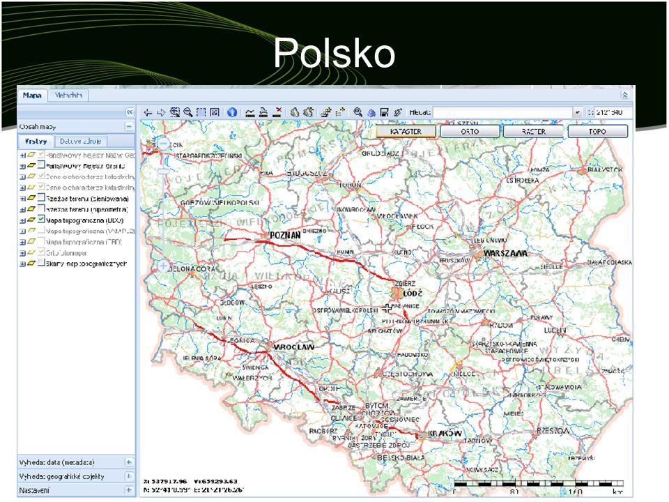 Polsko Založena mezirezortní komise (PASI) –první zasedání 2001 –modernizaci a integraci systémů katastrálního typu –vybudování národního pozemkového informačního systému (základ informační infrastruktury) –tvarování této infrastruktury vládou, kraji a soukromým sektorem