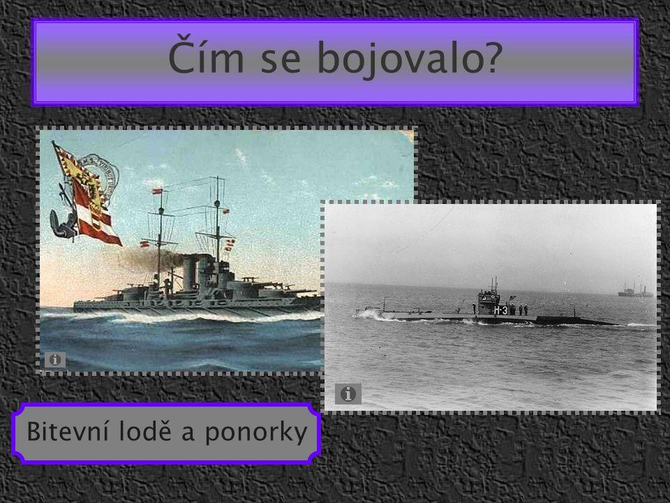 Čím se bojovalo? Bitevní lodě a ponorky