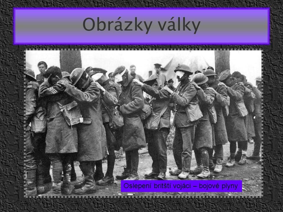 Obrázky války Oslepení britští vojáci – bojové plyny
