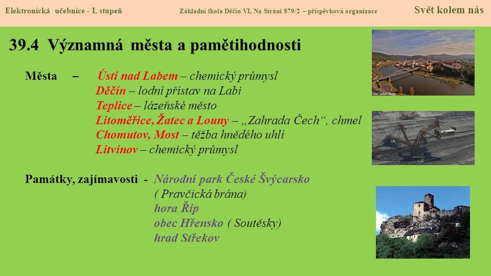 39.5 Procvičení a příklady Elektronická učebnice - I.