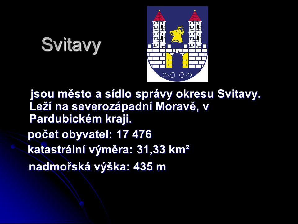 Svitavy jsou město a sídlo správy okresu Svitavy. Leží na severozápadní Moravě, v Pardubickém kraji. jsou město a sídlo správy okresu Svitavy. Leží na