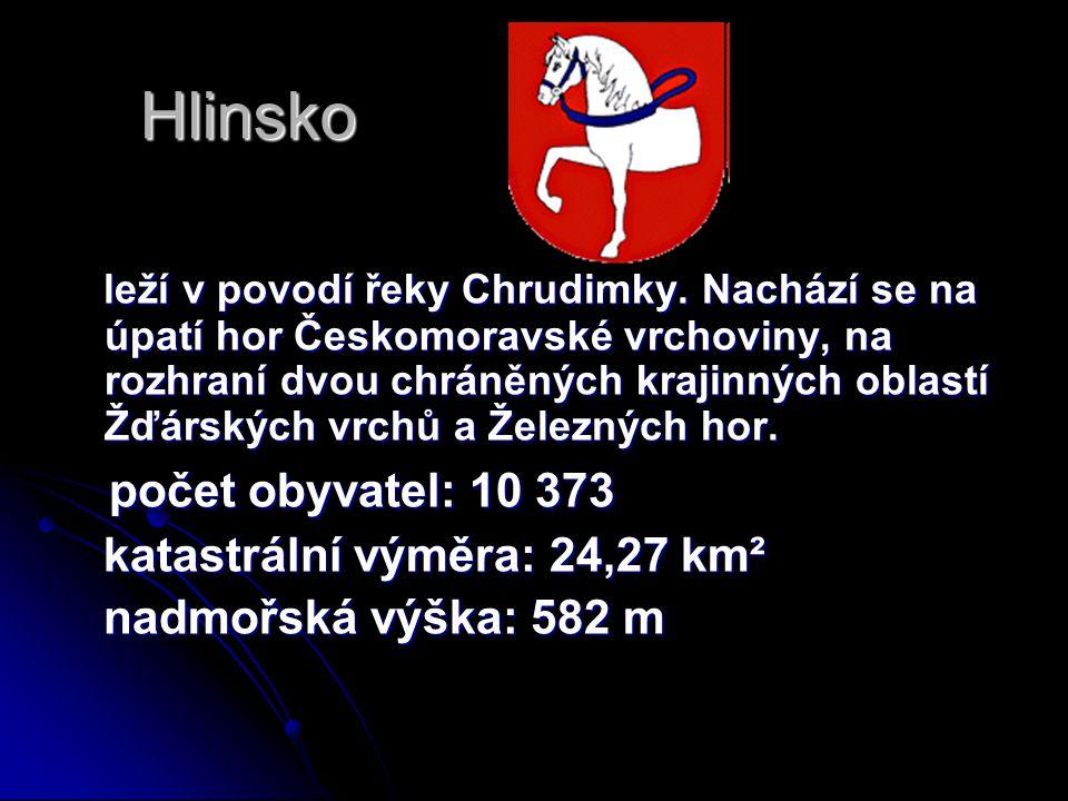 Hlinsko leží v povodí řeky Chrudimky. Nachází se na úpatí hor Českomoravské vrchoviny, na rozhraní dvou chráněných krajinných oblastí Žďárských vrchů