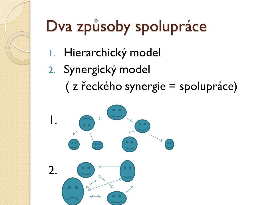 Dva způsoby spolupráce 1. Hierarchický model 2.