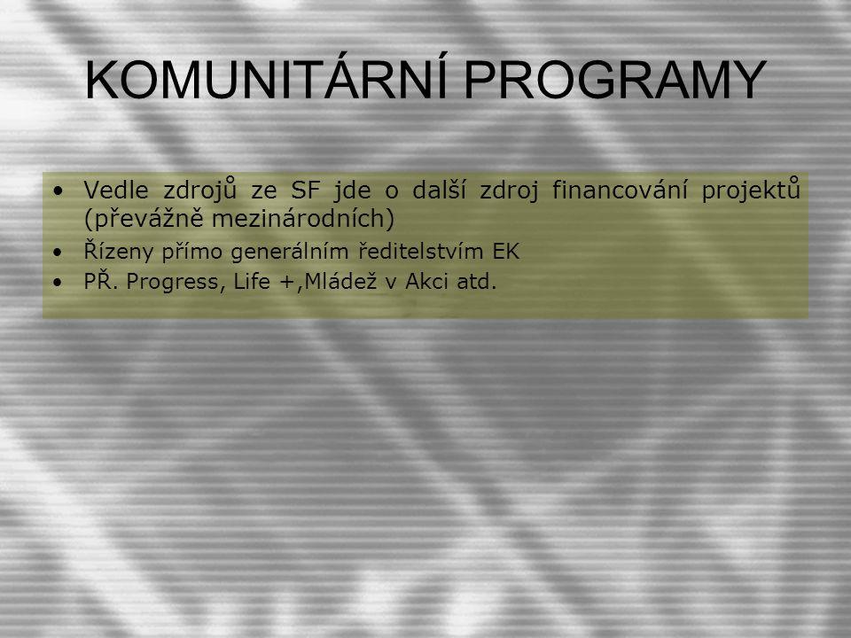 Operační program životní prostředí Řídícím orgánem Operačního programu Životní prostředí je Ministerstvo životního prostředí Zprostředkujícím subjektem bude Státní fond životního prostředí České republiky.