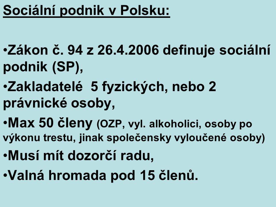 Sociální podnik v Polsku: Zákon č.