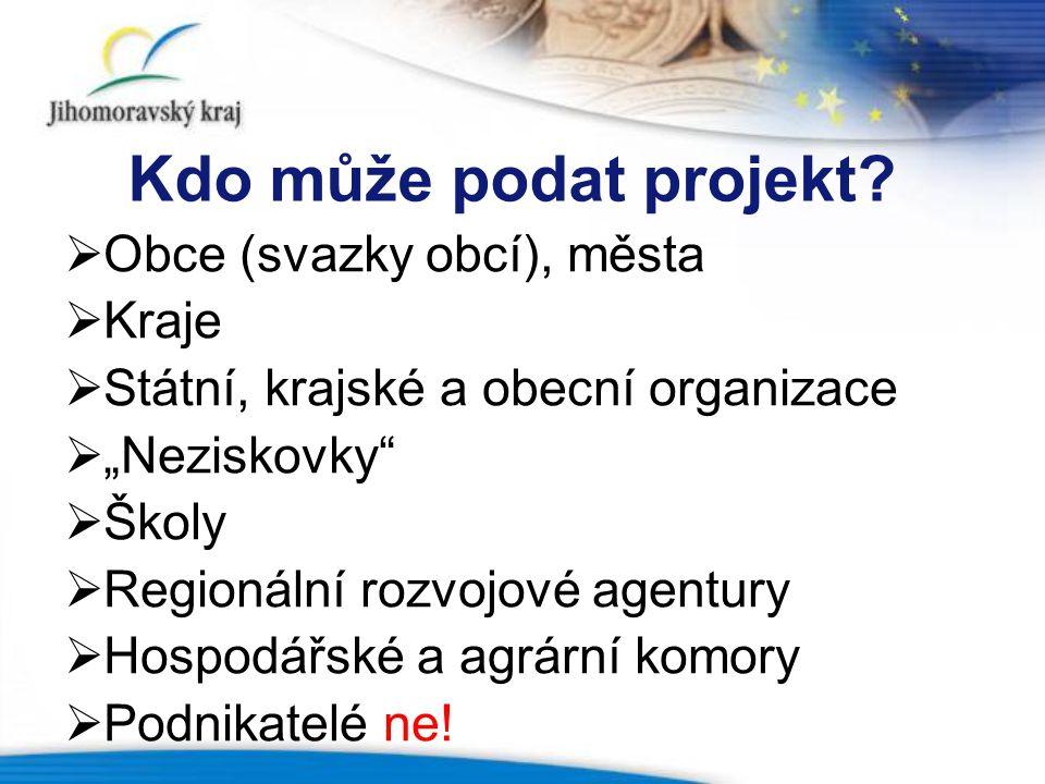 Kdo může podat projekt.