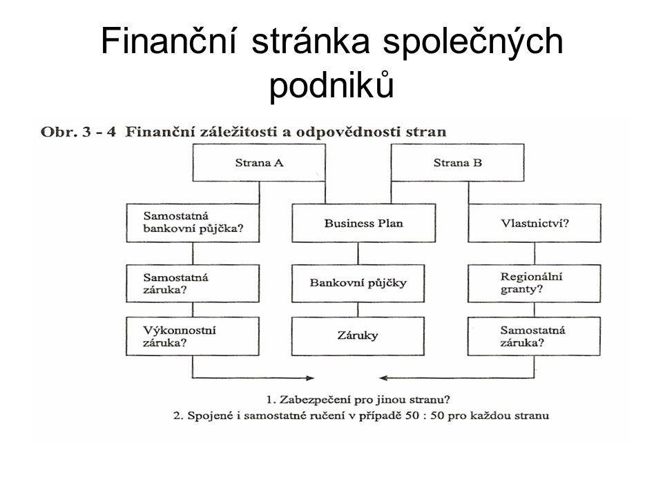 Finanční stránka společných podniků