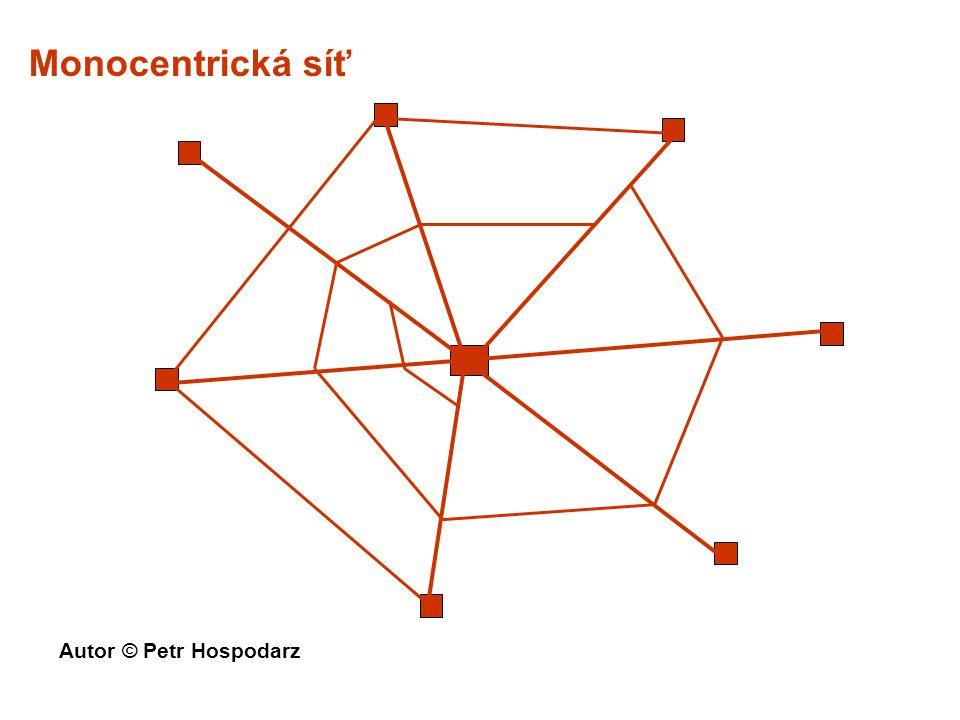 Monocentrická síť Autor © Petr Hospodarz