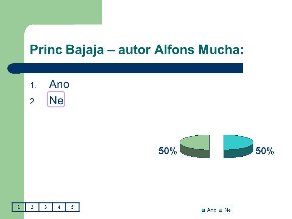 Princ Bajaja – autor Alfons Mucha: 1. Ano 2. Ne 12345