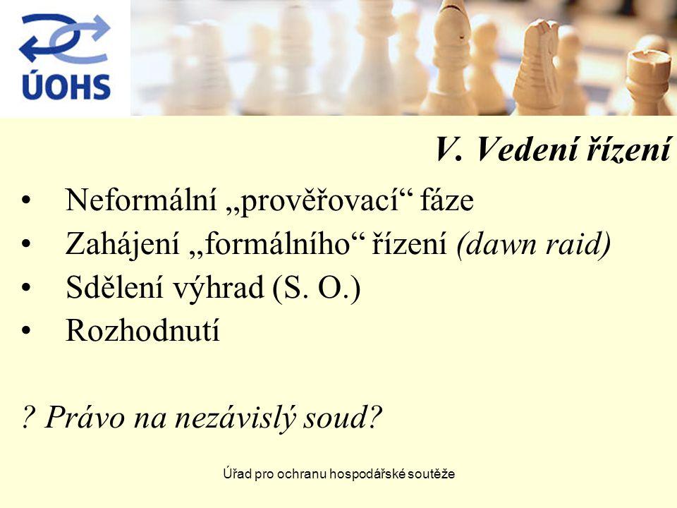Úřad pro ochranu hospodářské soutěže V.