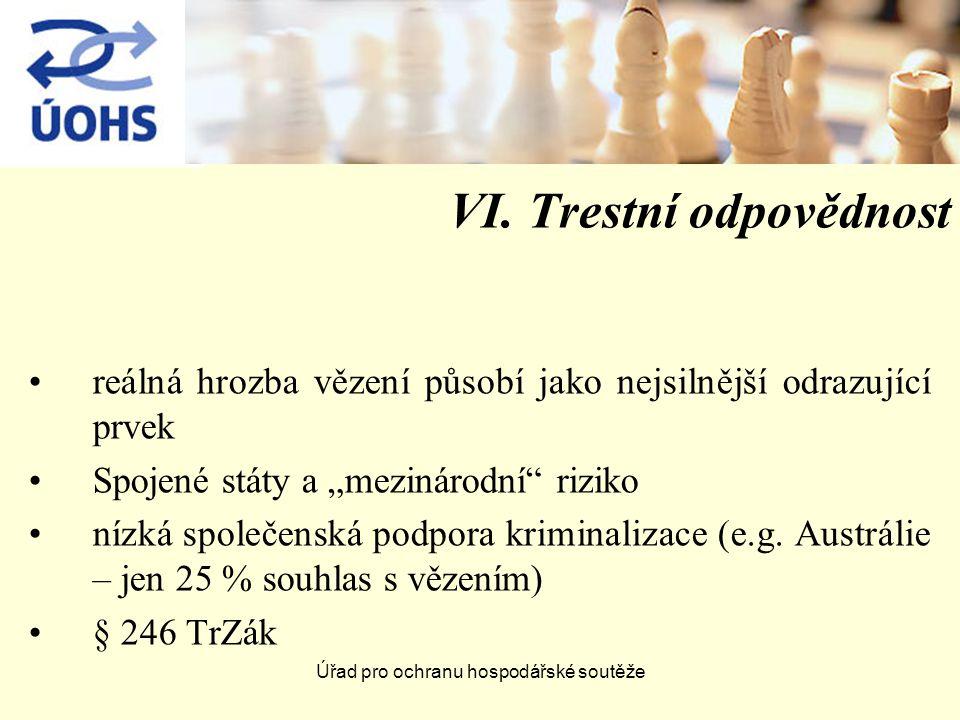 Úřad pro ochranu hospodářské soutěže VI.